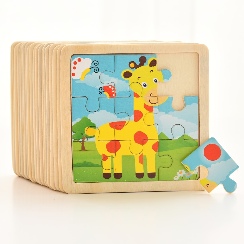 Cartoon Wooden Baby Puzzle