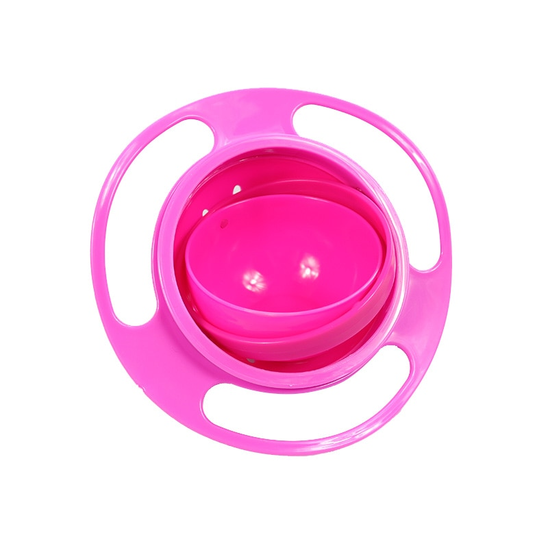 Baby's Rotating Plastic Bowl