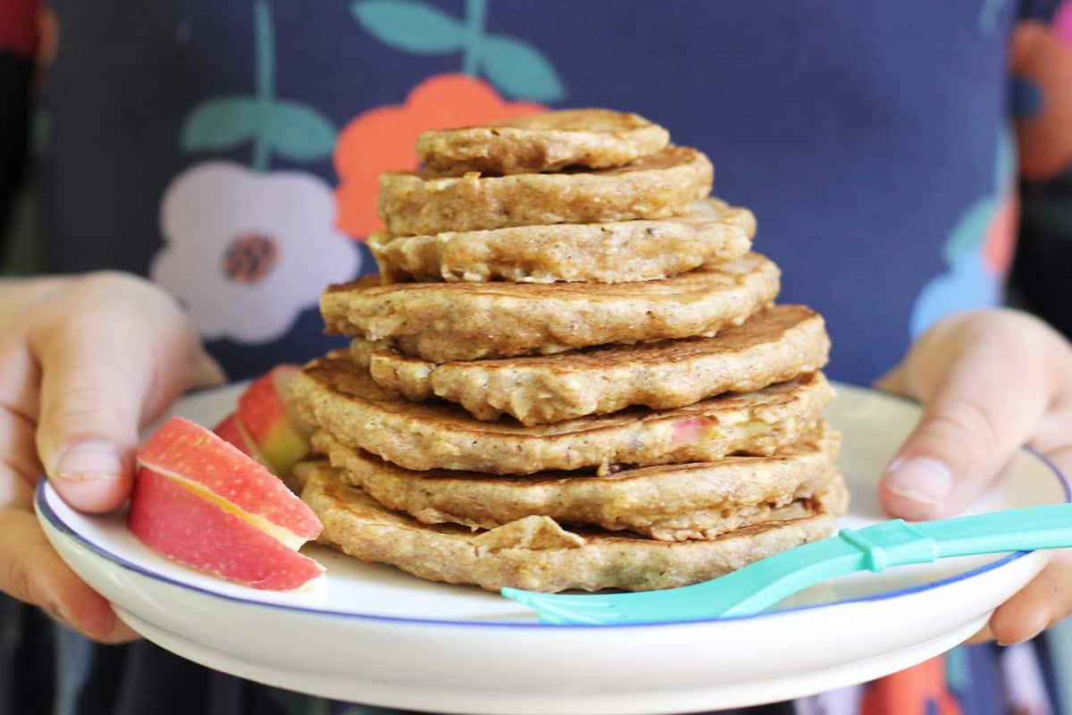 Fresh Apple Pancakes (2 Ways!) (Regular or Sheet Pan!)